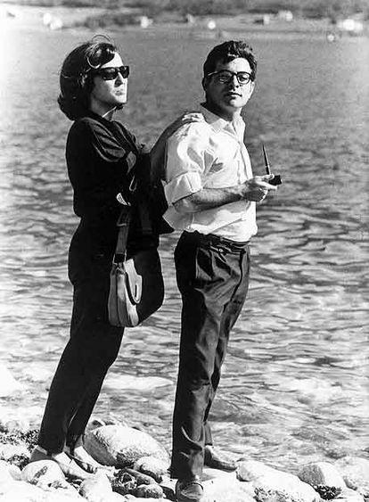 La escritora y editora Esther Tusquets, con su primer marido, Jorge Argente.