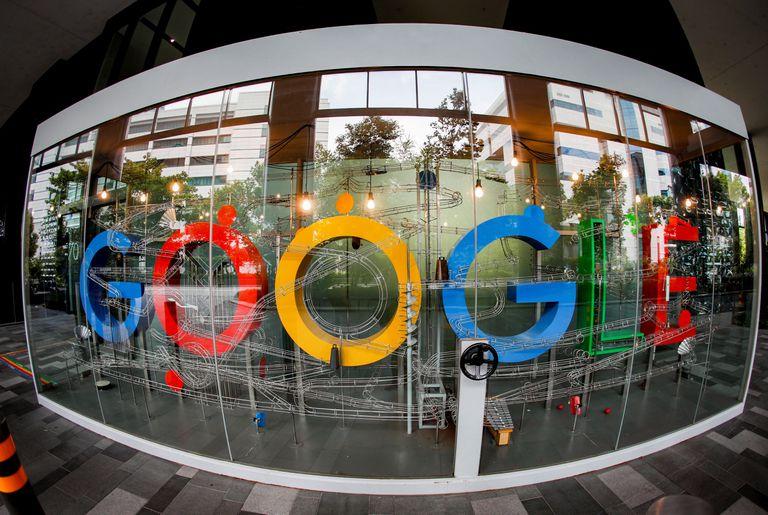 Logotipo de Google en Singapur.
