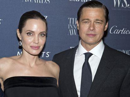 Angelina Jolie y Brad Pitt, en unos premios en noviembre de 2015.