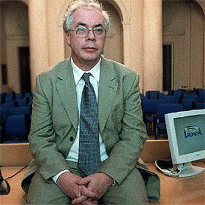 John Kay, antes de la entrevista.