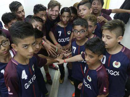 Jugadores nepalíes del equipo Scholar Hom Academy, en la Donosti Cup.