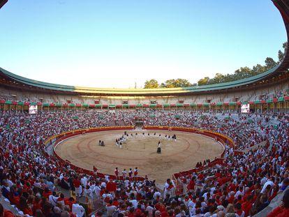 La plaza de toros de Pamplona, en 2019.