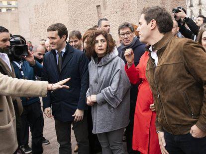Acto por la unidad de España en la Plaza de Colón (Madrid).
