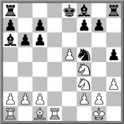 Posición tras 13 Cf4.