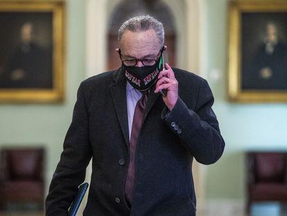 El líder de la mayoría en el Senado, Chuck Schumer, en el Capitolio.
