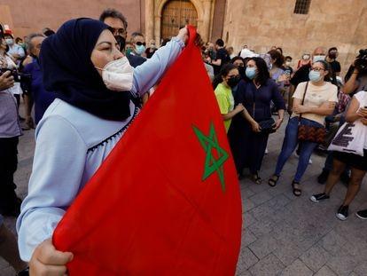 Concentración el pasado día 20 de junio en Murcia contra el odio y el racismo tras el asesinato de Younes Bilal en Mazarrón.
