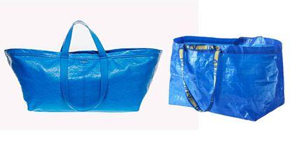 El bolso de Balenciaga y la bolsa de Ikea.