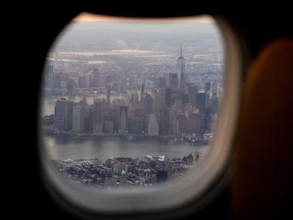 Vista del sur de Manhattan, donde estuvieron las Torres Gemelas, este jueves.
