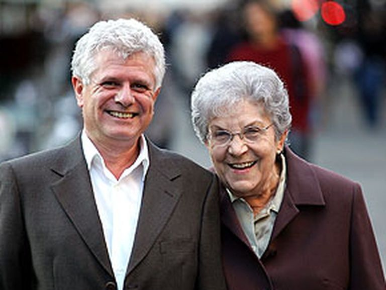 Ricard Vinyes y Maria Salvo, en Barcelona.