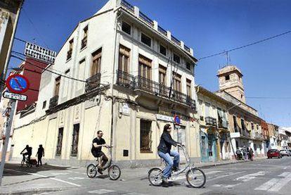 Vista del barrio valenciano de El Cabanyal, ayer por la mañana.