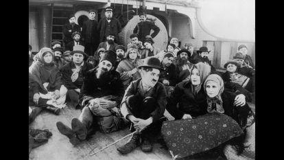 Fotograma de 'Charlot emigrante', de Charles Chaplin