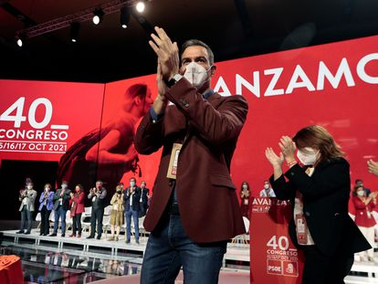 El presidente del Gobierno y secretario general del PSOE, Pedro Sánchez,este sábado.