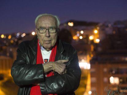 El estudioso del cine Román Gubern, en su casa de Barcelona