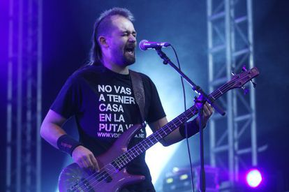 Actuación de Salida Nula durante el concierto anoche en Rivas.
