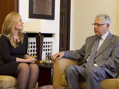 Trinidad Jiménez se reúne con primer ministro marroquí, Abás Fasi