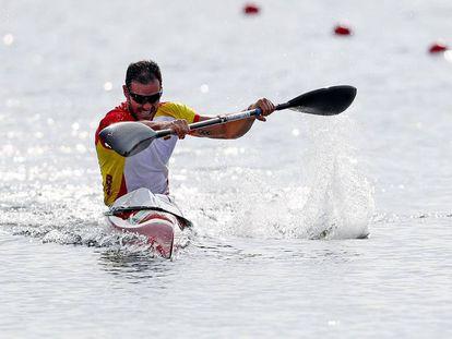 Saúl Craviotto, compitiendo en los Juegos Olímpicos de Río de Janeiro, en 2016.