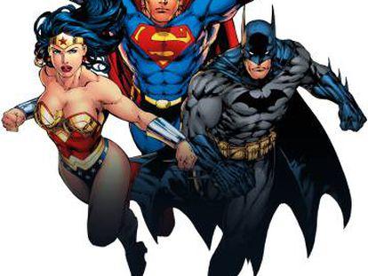 Wonder Woman, Superman y Batman.