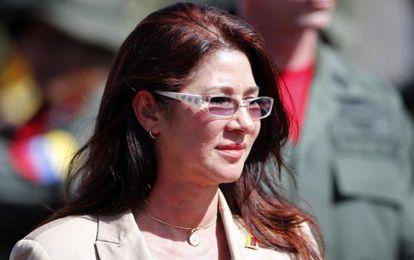 Cilia Flores, en un acto público en Puerto Ayacucho en julio.