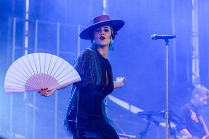 Cristina Manjón, cantante de Fuel Fandango, en el Sonorama.