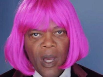 Samuel L. Jackson, con una peluca de su color favorito, en la entrega de los premios Bet, que reconoce a personalidades afroamericanas relevantes.