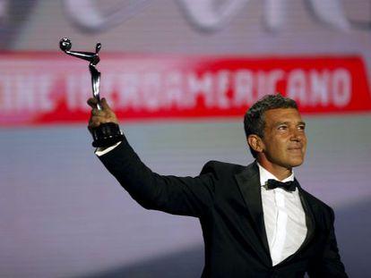Antonio Banderas, premio de honor en los Platino de 2015.