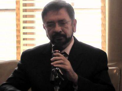 El ministro de Justicia y Seguridad de El Salvador, David Munguía, en la sede de la OEA.