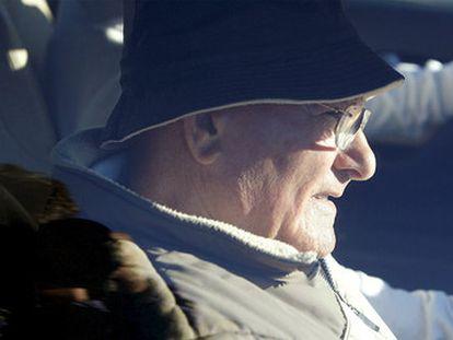 El patriarca del clan de Los Charlines abandona la cárcel de A Lama en 2010.