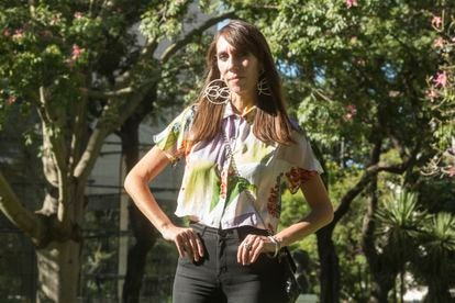 Luciana Cáncer, author of 'A place saved for something', in Buenos Aires last week.