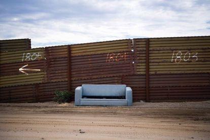 Un tramo de la barrera en la frontera de México con Estados Unidos