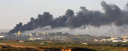 Imágenes de los combates las tropas israelíes y milicias de Hamás en el interior de la franja de Gaza