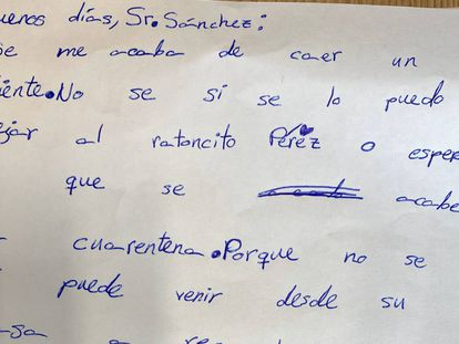 Fragmento de la carta Sofía.