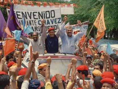 Hugo Chávez, en la campaña electoral venezolana de 1998.