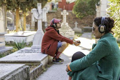 Participantes en 'Remote Madrid' en el Cementerio Británico.