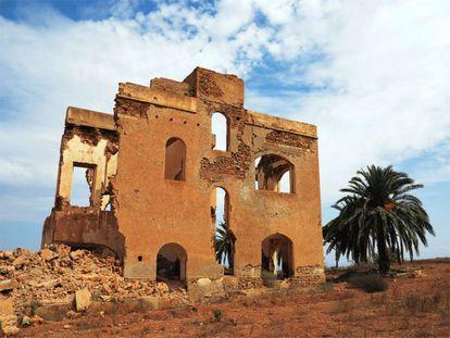 Ruinas de la casa cuartel española cerca de la localidad marroquí de Annual.