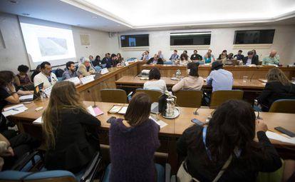 Evento paralelo sobre las directrices voluntarias y los pueblos indígenas, este lunes en Roma (Italia).
