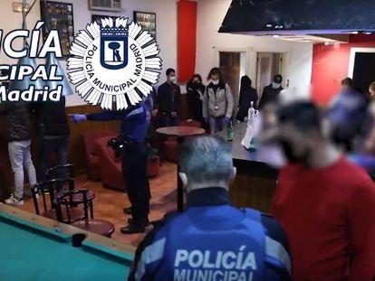 Fiesta ilegal desmantelada por la Policía Municipal de Madrid en Vallecas el pasado septiembre