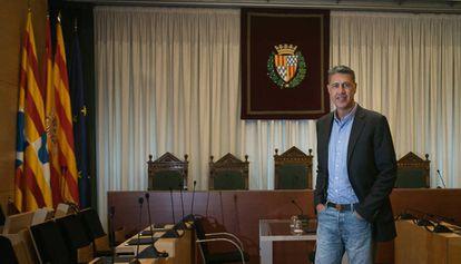 Xavier Garcia Albiol, en la sala de plenos de Badalona.
