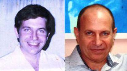 En la izquierda, Sarraff con 32 años, fecha en la que fue encarcelado, y en la derecha, en una imágen sin datar cedida por la familia Sarraff.