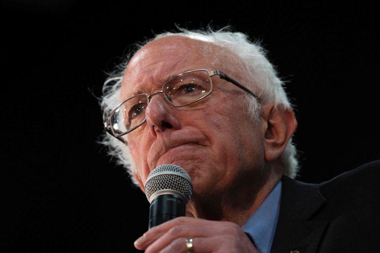 Bernie Sanders, en un acto público a finales de febrero.