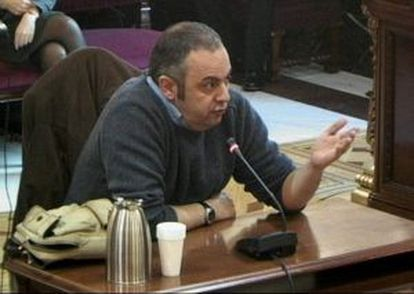 Emilio Silva, durante su declaración en el juicio a Garzón.