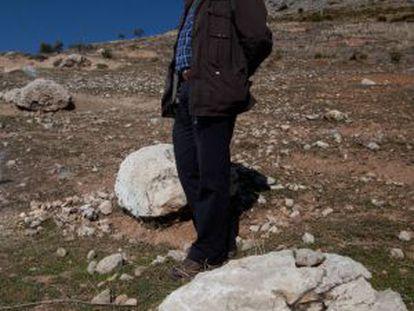 Miguel Caballero, en el paraje Peñón Colorado de Alfacar (Granada).