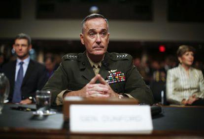 El general Joseph Dunford en el Senado.