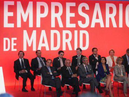 La alcaldesa, Ana Botella, en la clausura de la Asamblea de la CEIM.