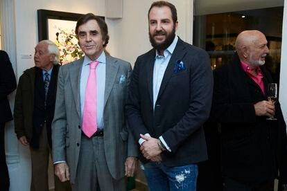 Manolo Segura y Borja Thyssen, en Madrid el pasado febrero.