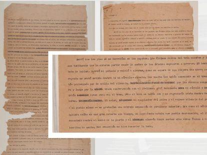 Reproducción del cuento inédito de García Márquez 'Relato de las barritas de menta' facilitada por la Biblioteca Luis Ángel Arango del Banco de la República de Colombia.