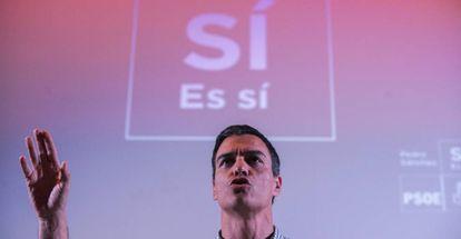 Pedro Sánchez, en un acto en Ourense.
