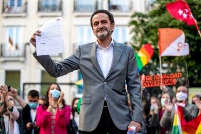 Edmundo Bal en un acto electoral de Cs el día 28 de abril en Madrid.