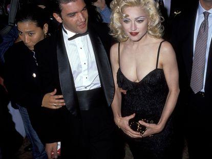 Antonio Banderas y Madonna en 1991. Entonces ya eran amigos.