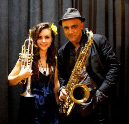 Andrea Motis y Joan Chamorro en 2012.