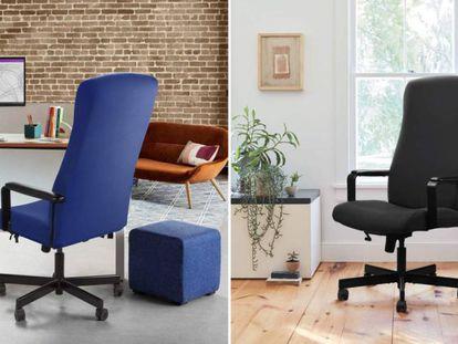 Elegimos un método cómodo y económico para proteger la silla de oficina o escritorio: una funda elástica, a la venta en cuatro colores en Amazon.
